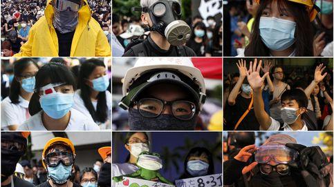 Hong Kong castigará las máscaras en las protestas: 3.000 euros y un año de cárcel