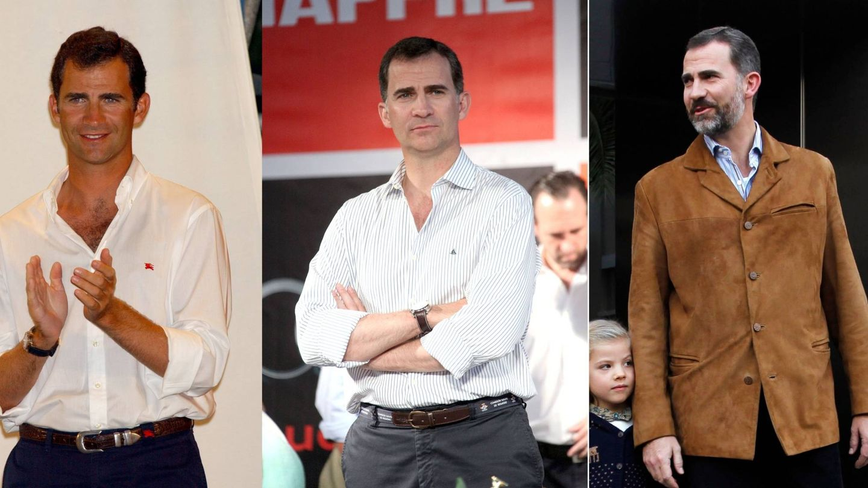 El Rey en 2002 y 2012. (Getty / Cordon Press)
