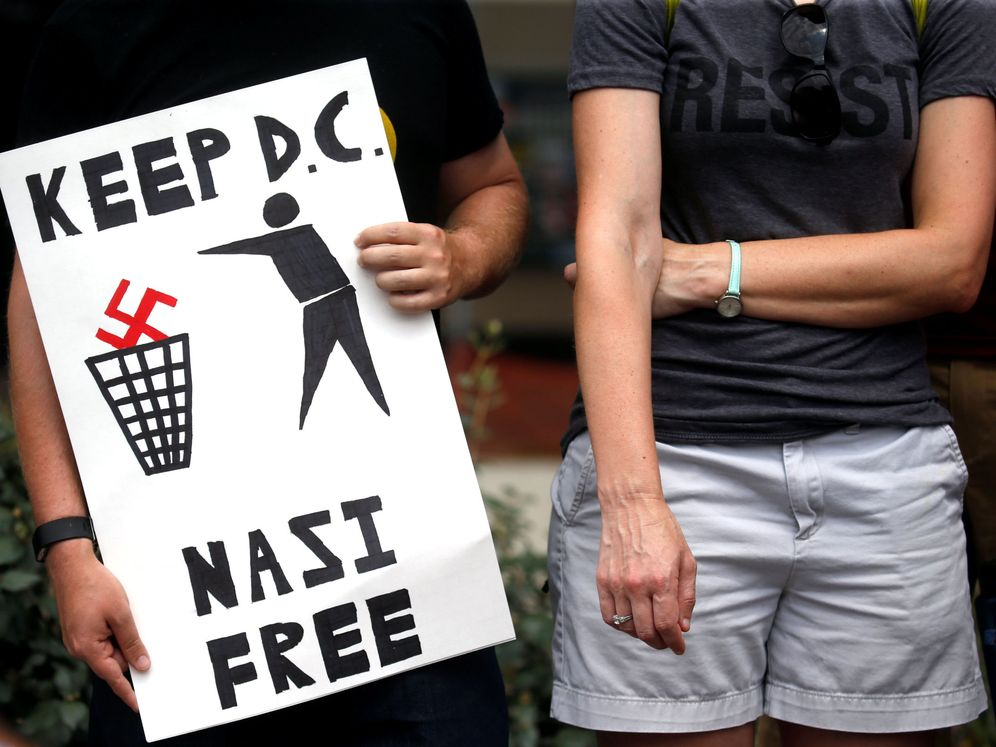 Foto: People protest the white supremacist unite the right rally held in downtown washington, dc, u.s.