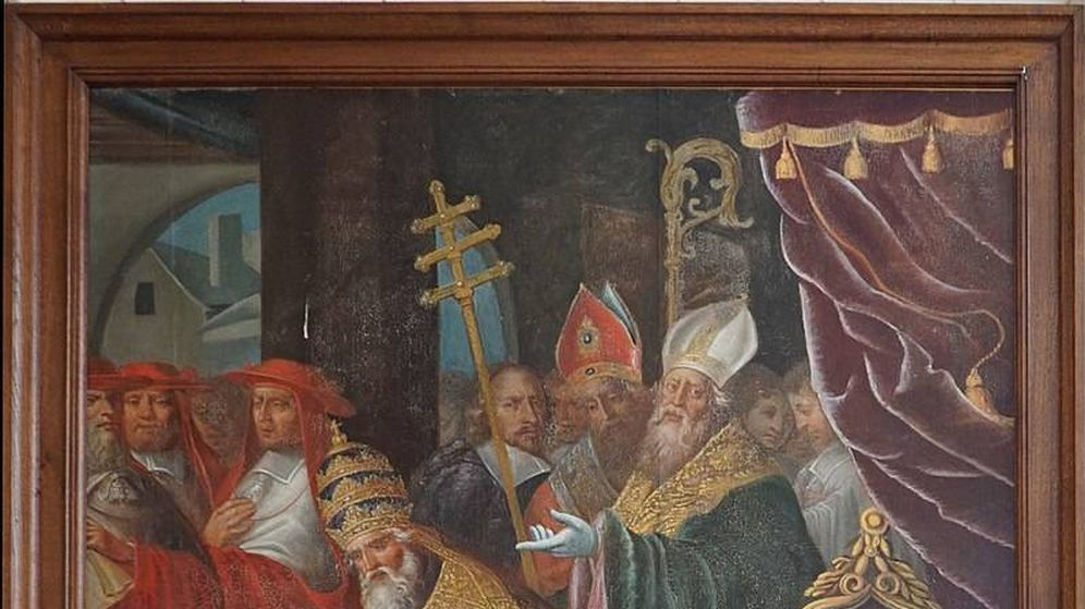 Foto: 'San Francisco de Sales ante el papa Clemente VIII'. Foto: CC