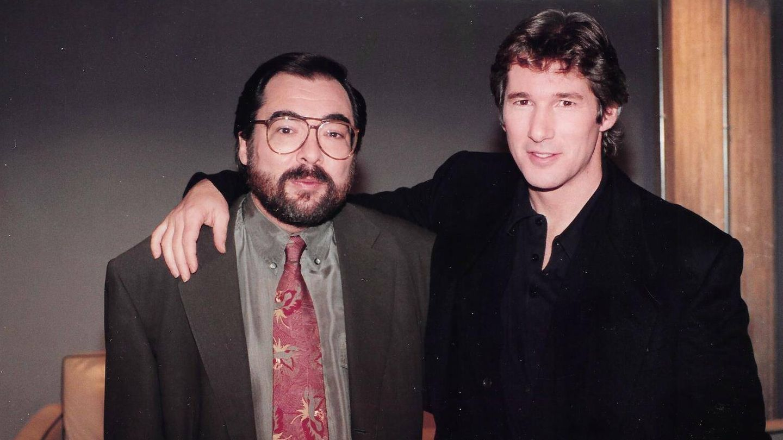 Ángel Casas con Richard Gere. (Archivo)