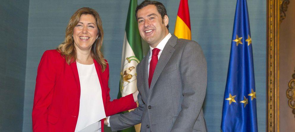 Foto:  La presidenta de la Junta de Andalucía, Susana Díaz, y el líder del PP-A, Juan Manuel Moreno. (EFE)