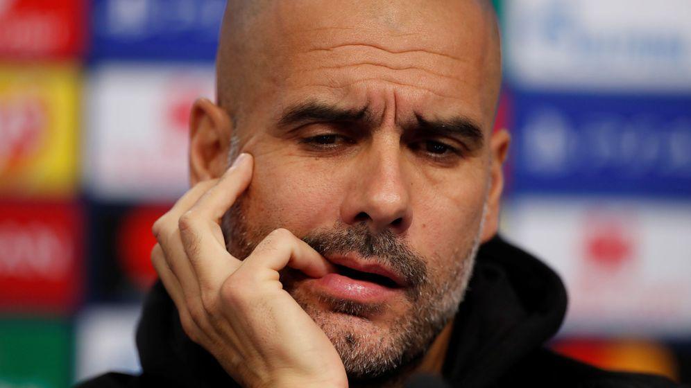 Foto: Pep Guardiola en una comparecencia con el Manchester City. (Efe)