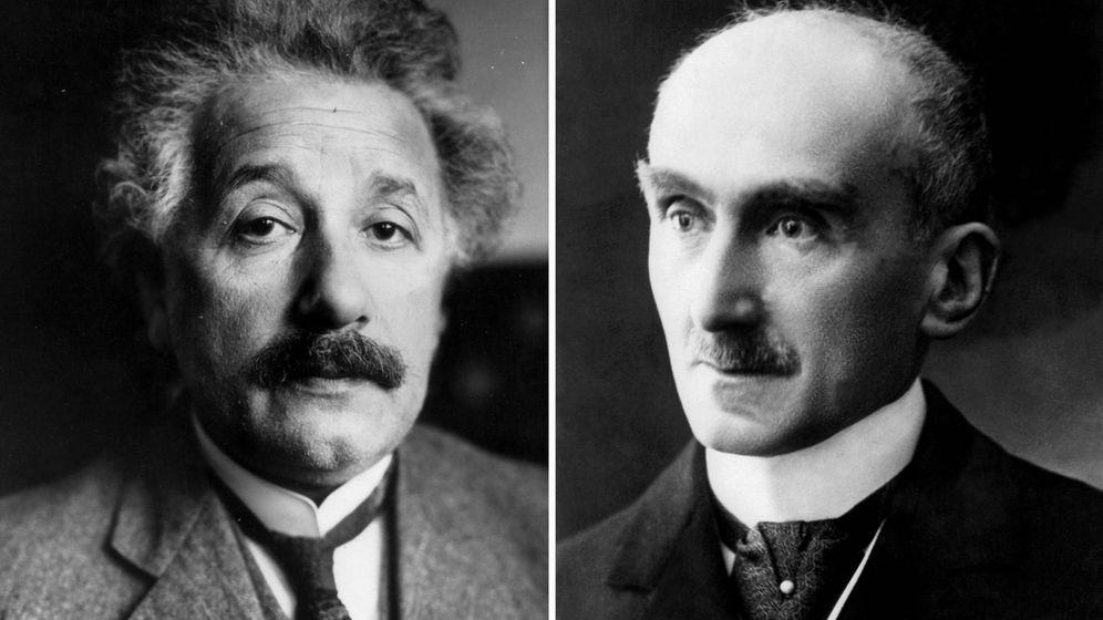Foto: Albert Einstein y Henri Bergson
