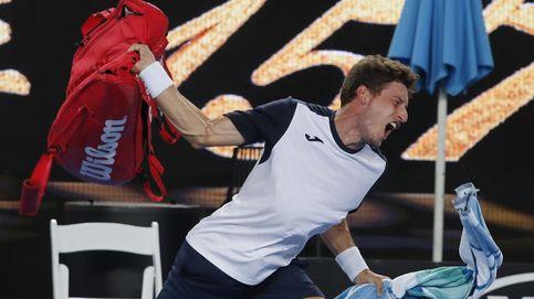 Carreño explota con insultos al árbitro en su derrota en el Open de Australia
