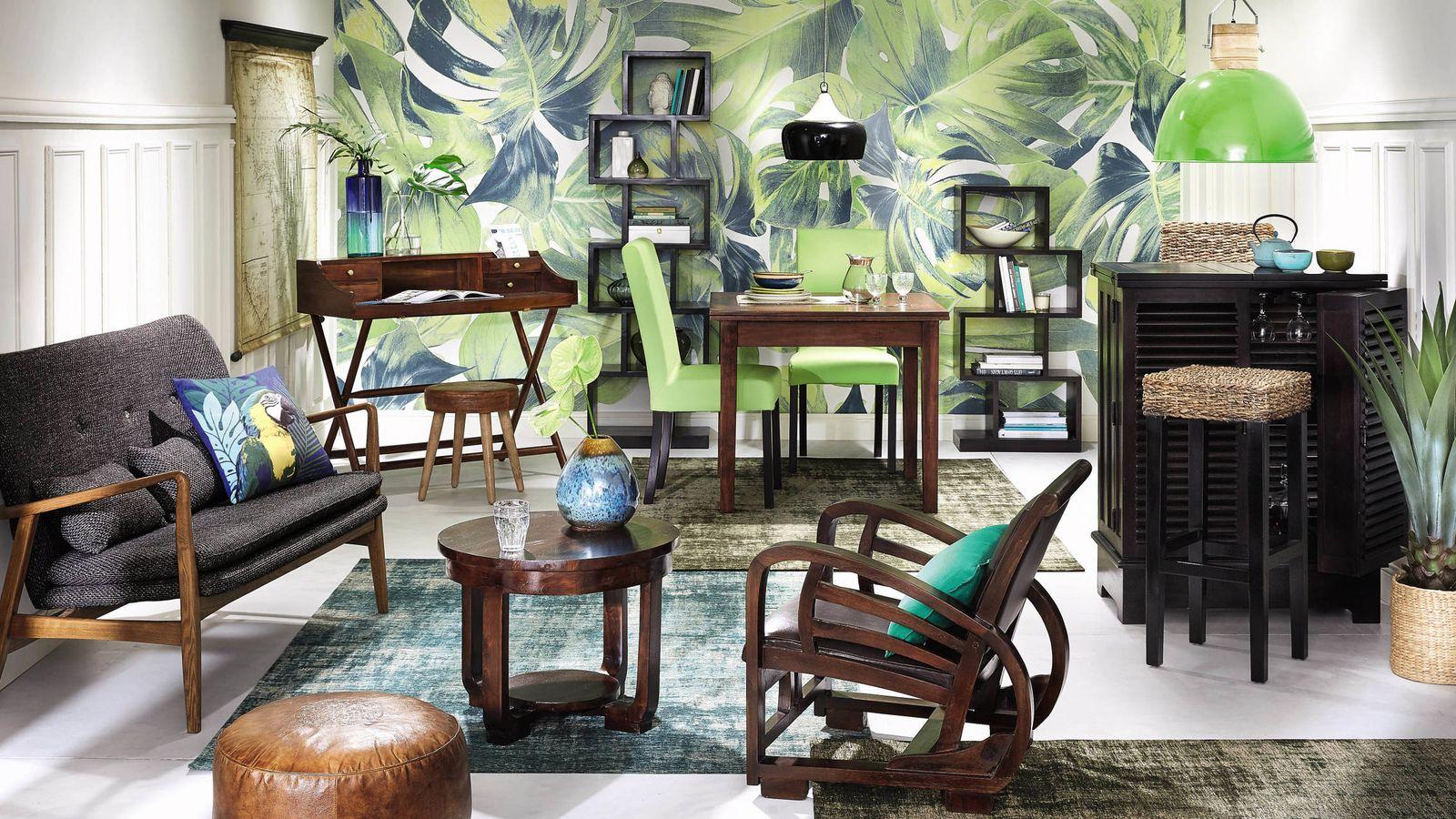 Decoraci n piensa en verde 22 piezas para decorar tu for Decoracion hogar verde