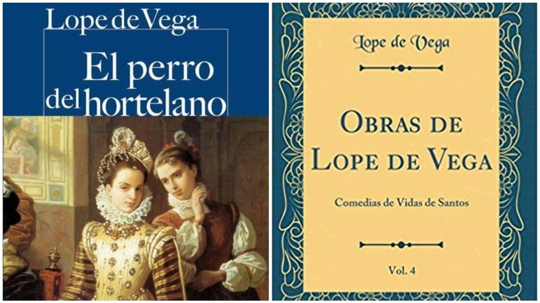 Portadas de 'El perro del hortelano' y de 'Comedias de vidas de santos'. (Ed. Castalia Prima y Forgotten Books)