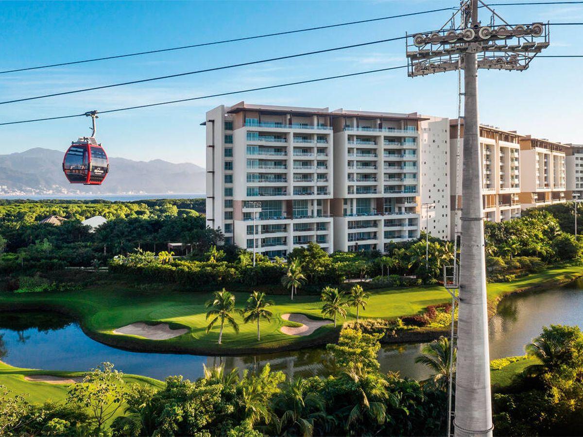 Foto: El Vidanta Nuevo Vallarta es el primer hotel del mundo con su propio teleférico (Vidanta)