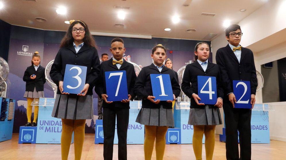 Foto: El número 37.142, primer premio del niño