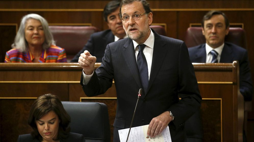 Foto: El presidente del Gobierno, Mariano Rajoy, durante la sesión en el Congreso. (Reuters)