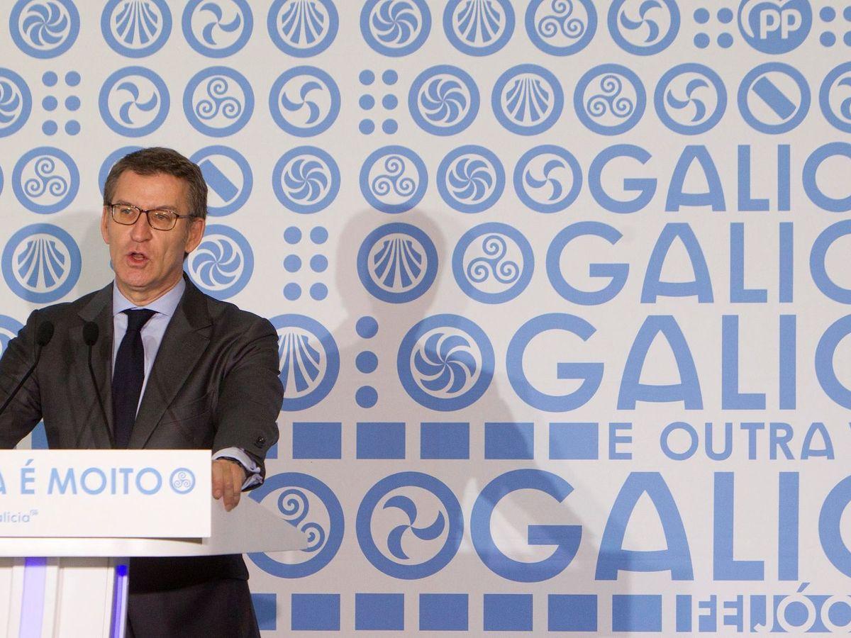 Foto: El presidente de la Xunta y del PP gallego, Alberto Núñez Feijóo, el pasado 9 de marzo en Pontevedra. (EFE)