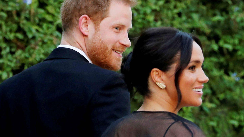 El príncipe Harry y su esposa, Meghan Markle, en un acto oficial. (Reuters)