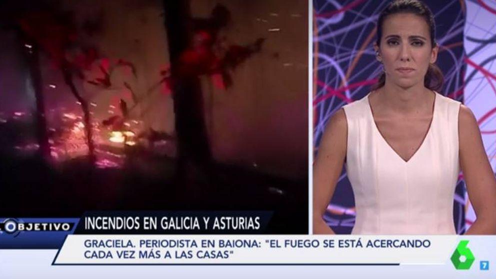 Ni las teles públicas ni las privadas: el fuego en Galicia solo interesó a La Sexta