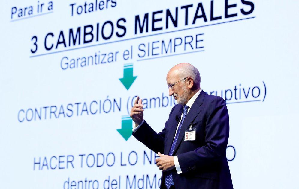 Foto: El presidente de Mercadona, Juan Roig, durante su intervención en el congreso anual de la Asociación de Empresas del Gran Consumo (Aecoc). (EFE)