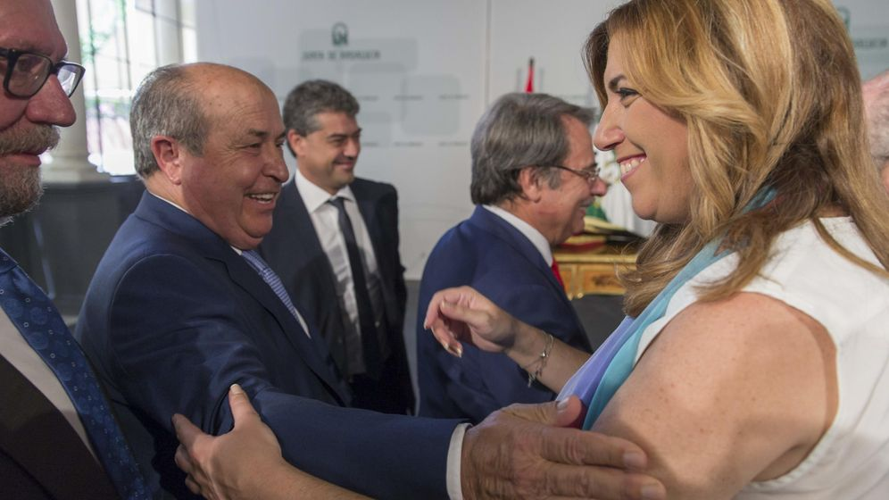 Foto: El alcalde de Granada, José Torres Hurtado junto a la presidenta de la Junta de Andalucía, Susana Díaz
