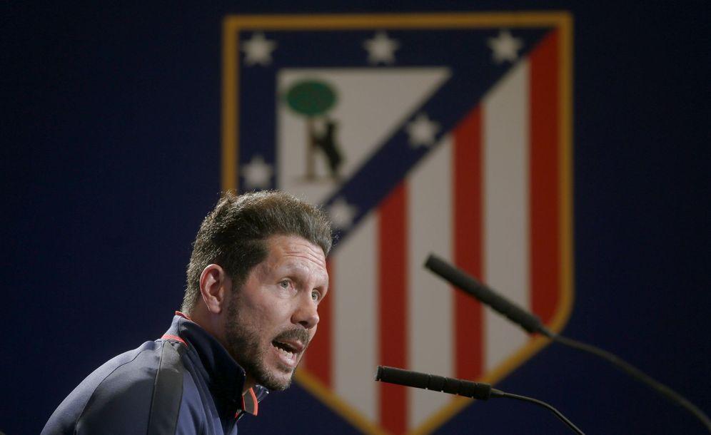 Foto: Simeone, durante una rueda de prensa. (Reuters/Susana Vera)