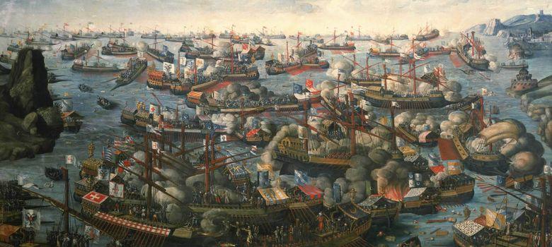 Foto: Óleo de la batalla de Lepanto.
