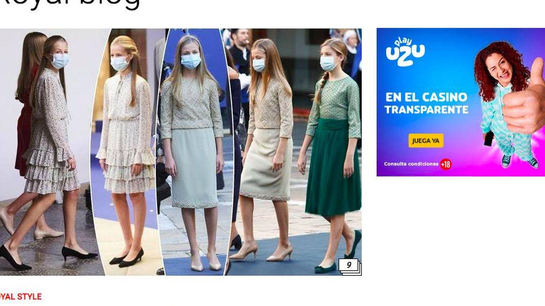 Los tacones de Leonor, protagonistas en 'Paris Match'.