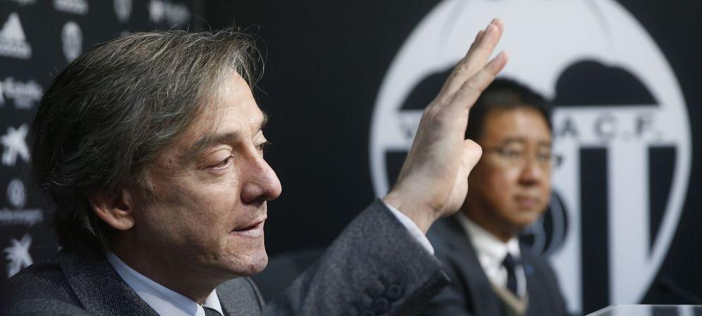 Foto: Garcia Pitarch, durante su presentación como nuevo director deportivo del Valencia (EFE)