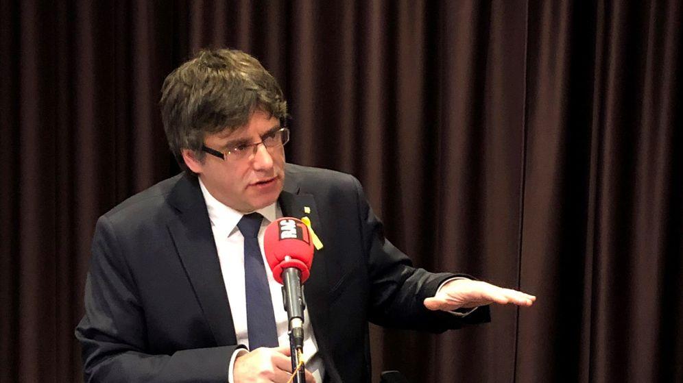 Foto: Puigdemont en una entrevista de radio. (EFE)