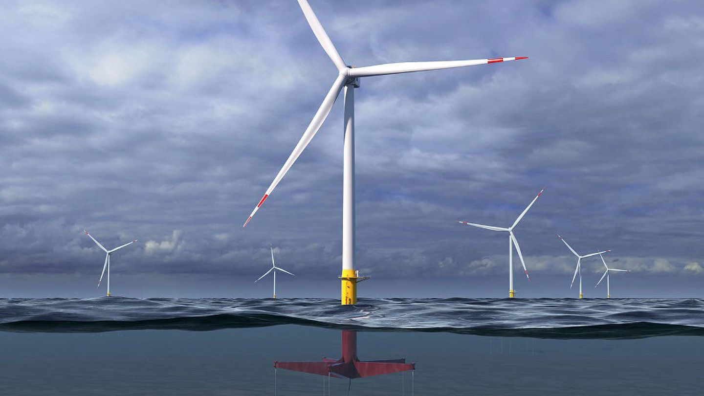 Estos molinos de viento flotantes son capaces resistir el viento y el oleaje (Glosten)