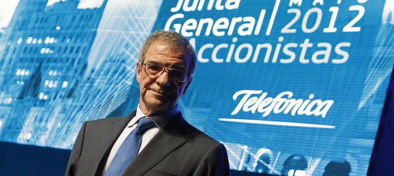Foto: Fotografía del presidente de Telefónica , César Alierta. (EFE)