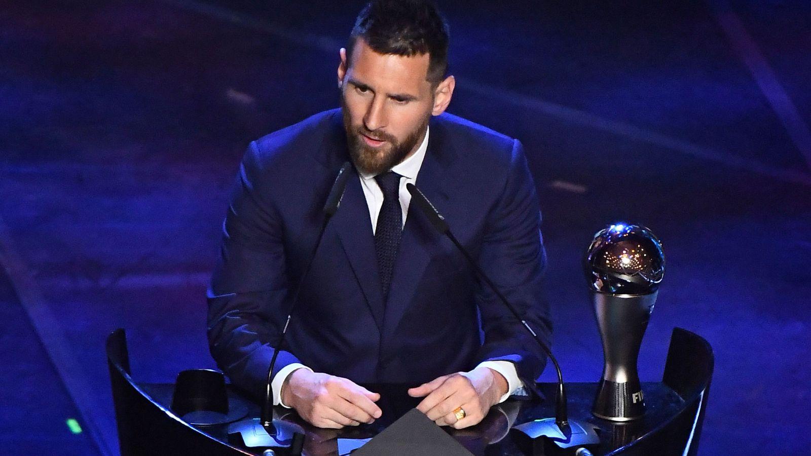 Foto: Messi, en la gala de la FIFA de The Best. (Reuters)