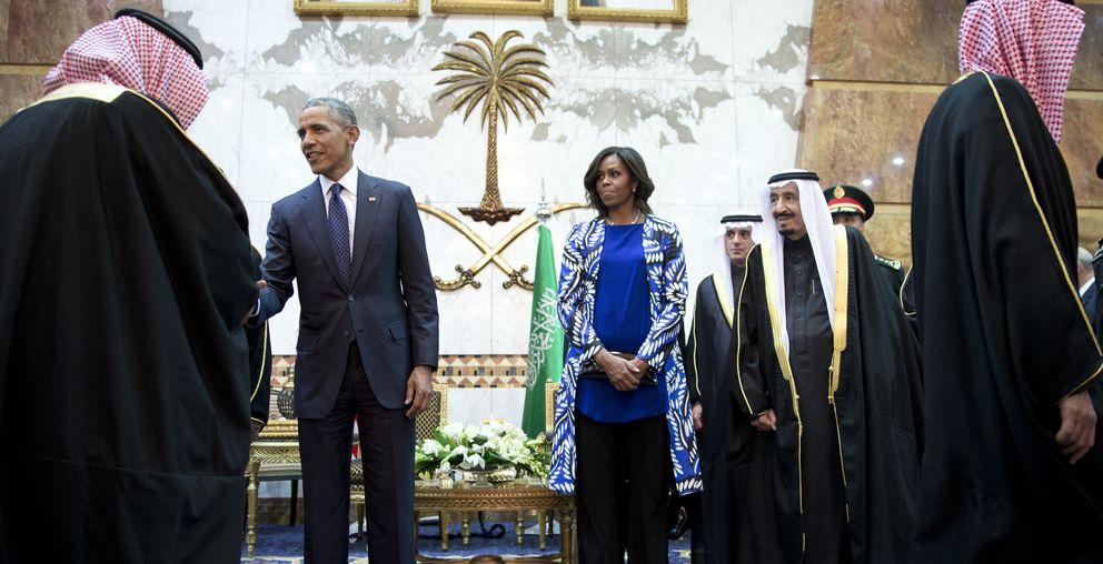 Foto: Michelle Obama, ignorada por no llevar velo (Gtres)