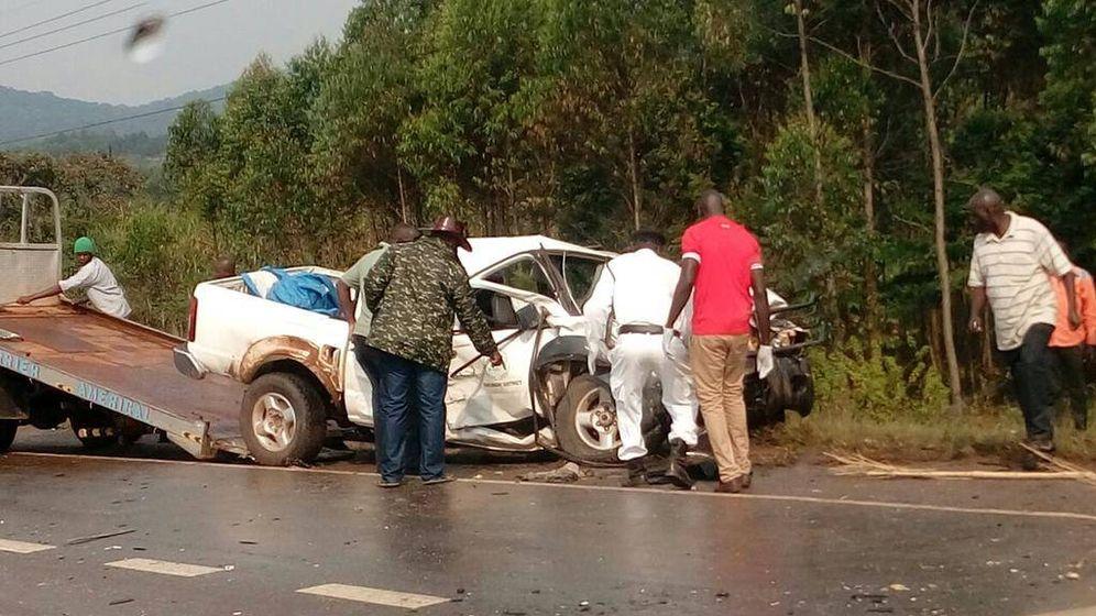Foto: Imagen de un accidente en la autopista que une Kampala con Masaka, en Uganda (Foto: eagle.co.ug).