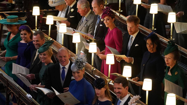 Los duques en la boda de Eugenia. (Getty)