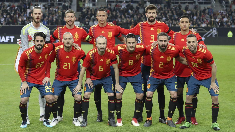 El once contra Alemania. (EFE)