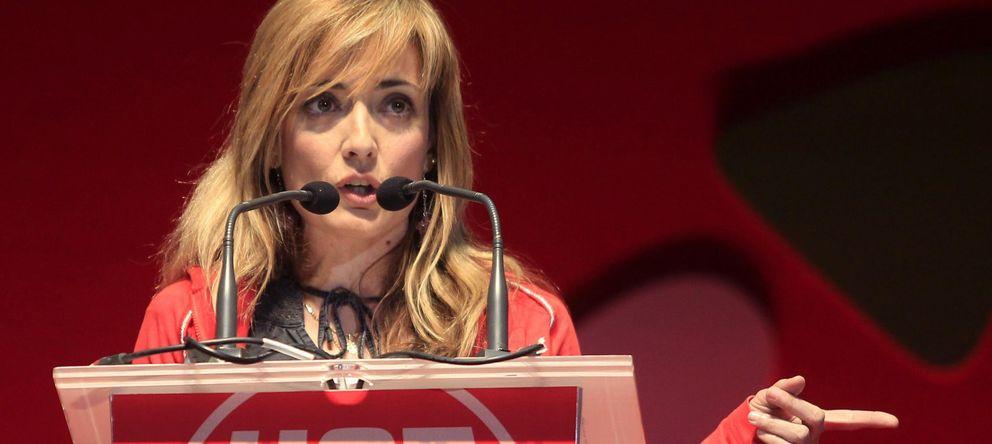 Foto: Carmen Castilla, en un acto de UGT en Madrid. (Efe)