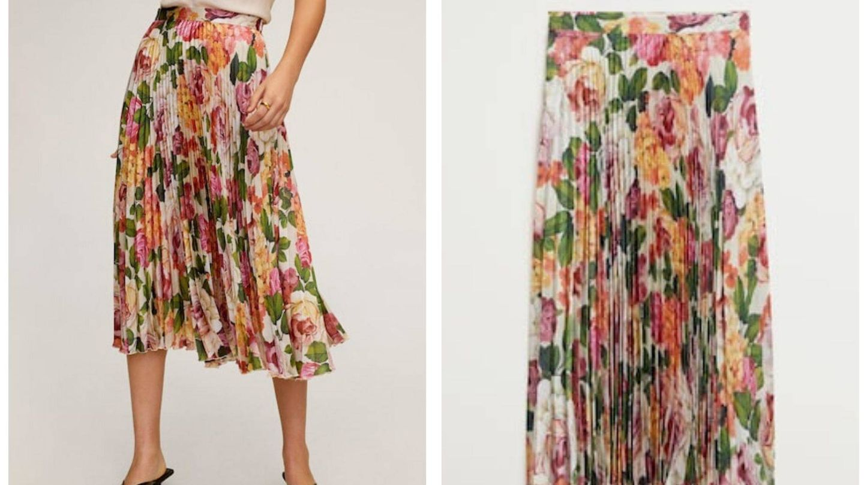 La falda plisada de Mango cuesta 50 euros (Cortesía)