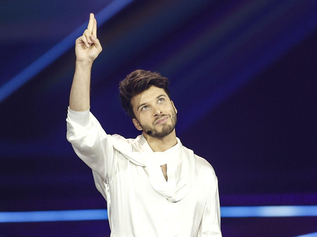 Foto: Blas Cantó durante la segunda semifinal del festival de Eurovisión 2021 (EFE)