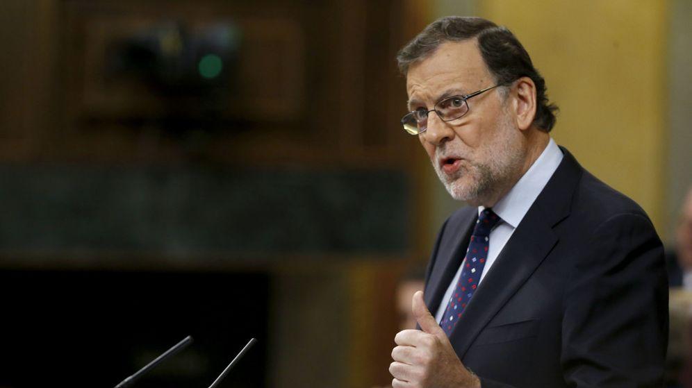 Foto: El presidente del Gobierno en funciones, Mariano Rajoy, durante su intervención en la tercera sesión del debate de su investidura. (EFE)