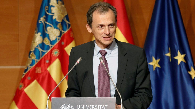 Duque manifiesta en la sede la UPV que prevé una nueva ley de universidades en un futuro no muy lejano. (EFE)