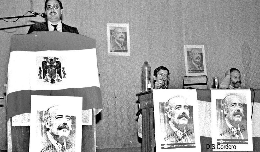 Foto: Acto electoral de Solidaridad Española en 1982.