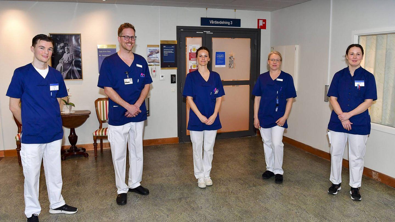 La princesa Sofia, en el hospital Sophiahemmet de Estocolmo. (Cordon Press)