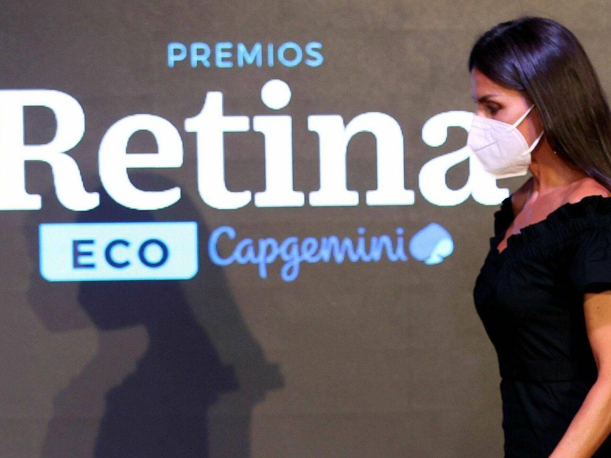 Foto: La reina Letizia, durante la entrega de los Premios Retina ECO. (EFE)
