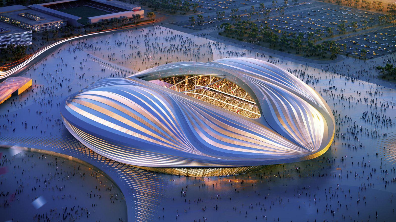 Foto: Imagen de uno de los espectaculares estadios que albergarán el Mundial de Qatar 2022 (Reuters)