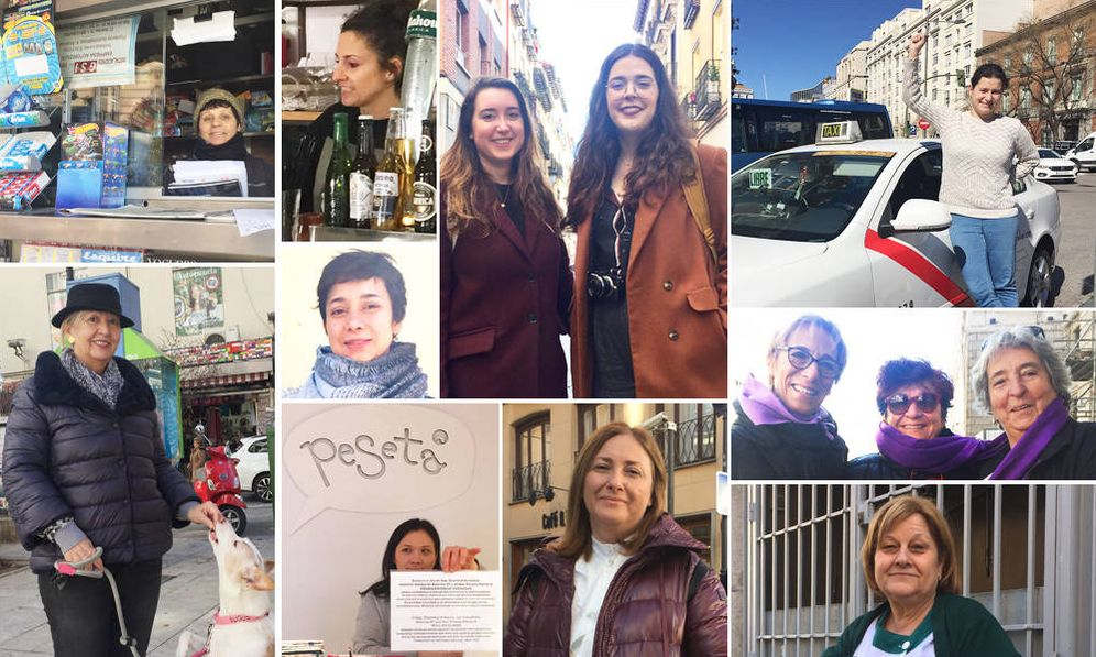 Foto: 18 testimonios a pie de calle sobre la huelga de mujeres del 8 de marzo. (Fotos: EC)