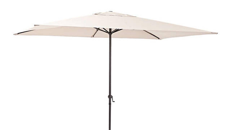 Parasol rectangular de acero Polar marrón 194x300 cm