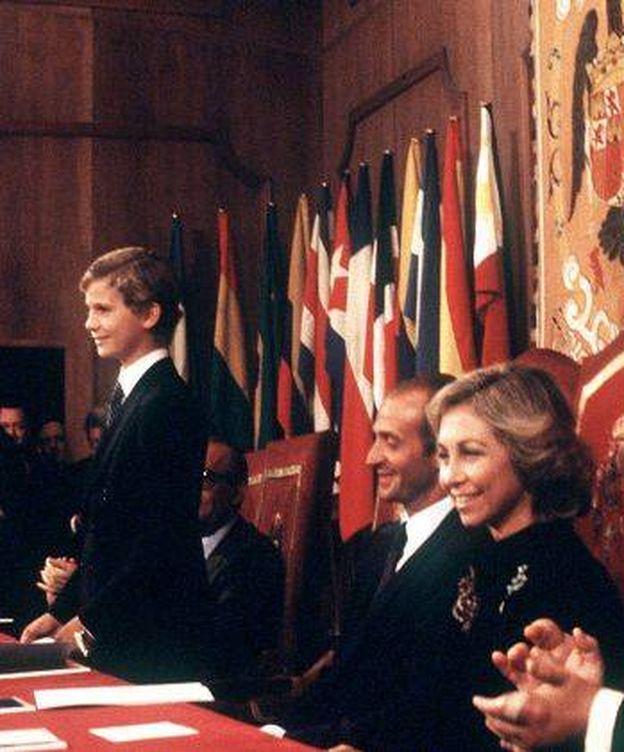 Foto: El Rey Felipe durante su primer discurso en los Premios Príncipe de Asturias (EFE)