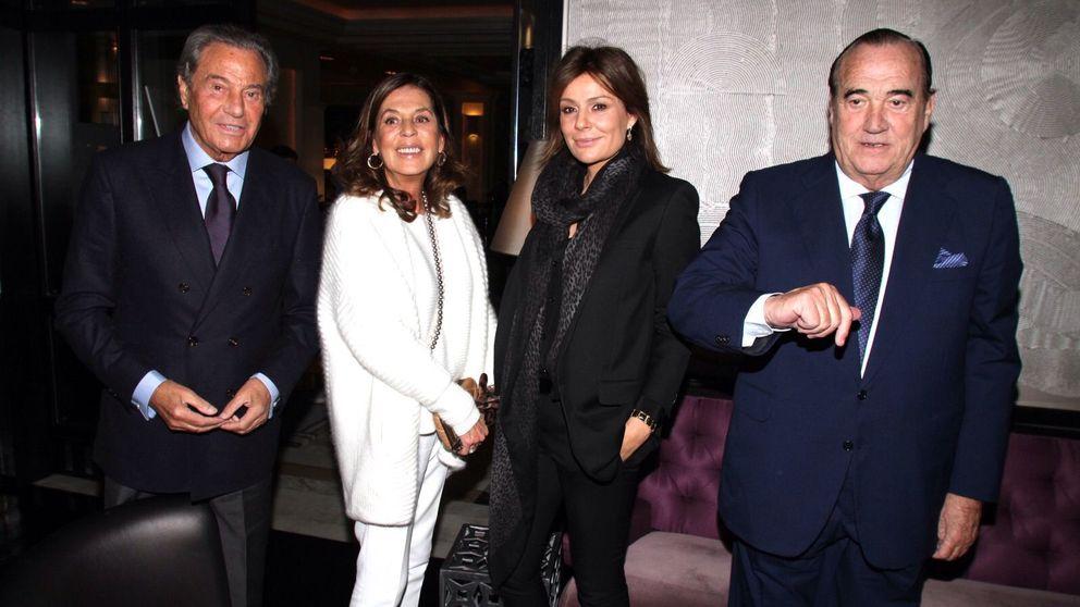 Tapias, Martínez-Bordiú y Nieves Álvarez en la fiesta de Massumeh