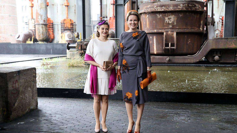 Stéphanie de Luxemburgo, con la reina Matilde de Bélgica. (Corte del Gran Ducado)