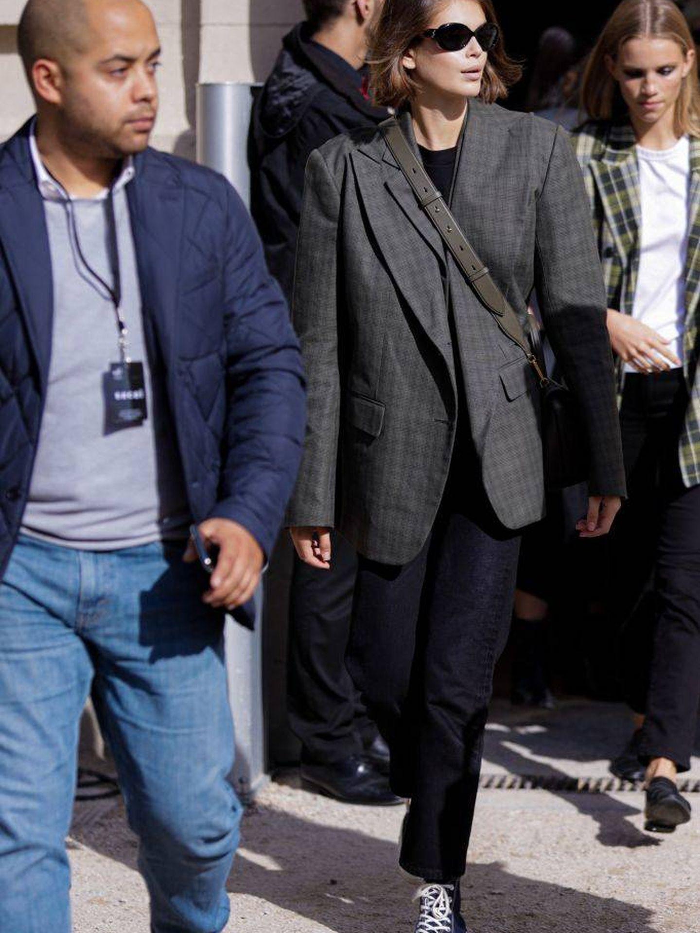 En la Paris Fashion Week. (Getty)