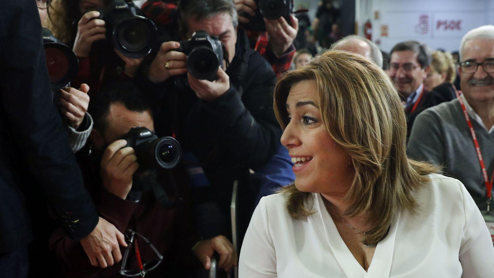 Foto: Susana Díaz, el pasado 14 de enero, durante el último comité federal del PSOE. (EFE)