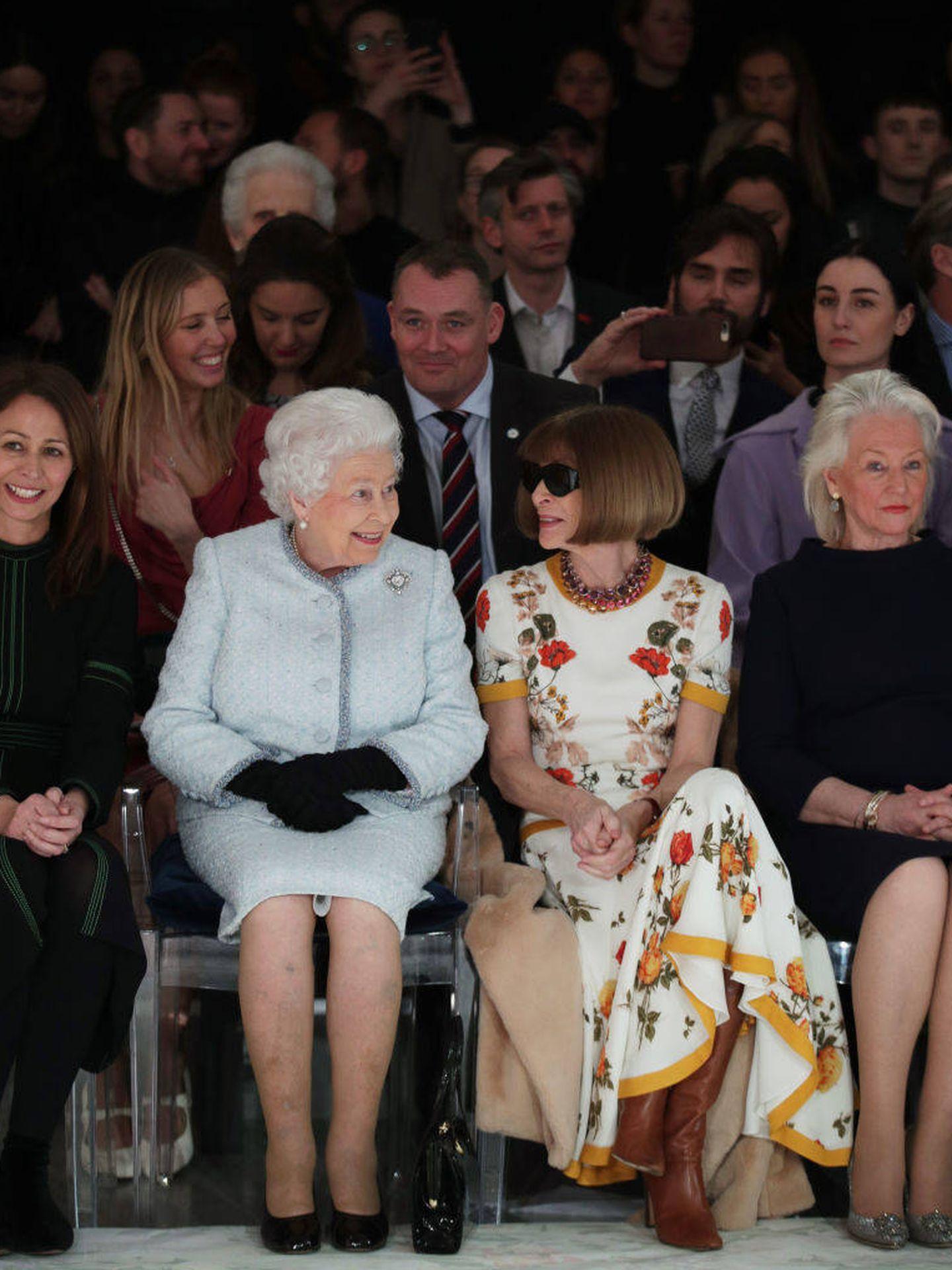 Isabel II, en la London Fashion Week.  (Getty)