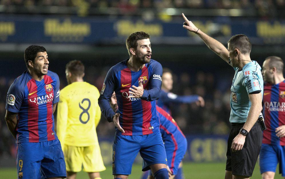 Foto: Imagen del Villarreal - Barcelona de la primera vuelta (EFE)