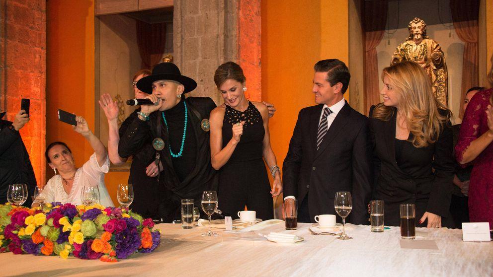 Letizia se desmelena en México durante la cena oficial a ritmo de hip hop